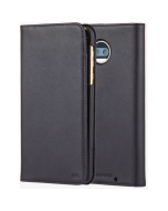 Case Mate Wallet Folio Leather Protection Case For Motorola Moto Z2 Force - Black