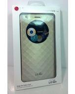 OEM LG Quick Circle Snap On Genuine Folio Case For LG G4 - Gold