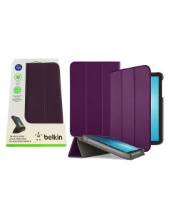 "Belkin Tri-Fold Folio Protection Case For Samsung Galaxy Tab E 8.0"" - Purple"