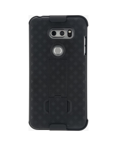 Verizon Shell Holster Combo With Kickstand Protection Case For LG V30 - Black