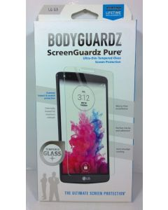 BodyGuardz Pure Ultra-Thin Tempered Glass Screen Protector for LG G3