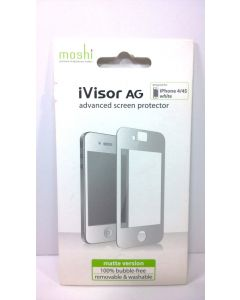 Moshi iVisor AG Advanced Anti-Glare Screen Protector for iPhone 4/4s - White