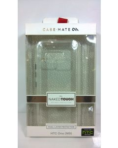 New in Box Case-Mate Naked Tough Dual Layer Case W/Clear Bumper for HTC One M9