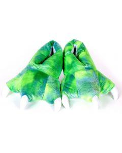 New Wishpets 12 Dinosaur Slippers Plush Toy Soft Cuddly - Green