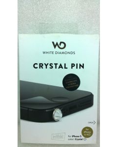 White Diamonds Crystal Pin W/Sparkling Screen Protector for iPhone SE/5/5s
