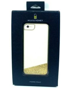 New Milk & Honey With Gold Glitter Protective White Case for Apple iPhone 6 / 6s