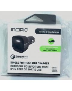 Incipio Qualcomm Quick Charge 2.0 Single Port USB Car Charger - Black