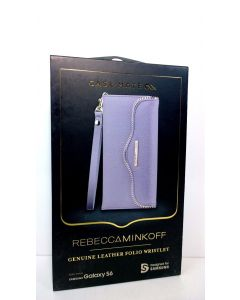 NIB Rebecca Minkoff Genuine Leather Folio Wristlet For Samsung Galaxy S6