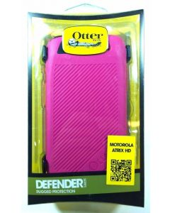 OtterBox Defender Series Case for Motorola Atrix HD - Pink