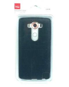 Verizon Silicone Matte Protection Slim Cover Case For LG V10 - Black