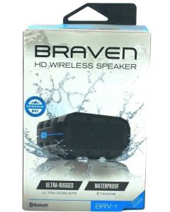 Braven HD Wireless Speaker Utra Rugged Waterproof Speaker - Black/Cyan