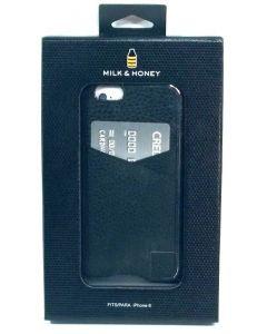 New Milk & Honey Leather Card Hardshell Case for Apple iPhone 6 / 6s - Black