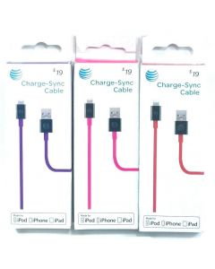 At&t Charge and Sync 4 Ft  Lightning Connector Cable Apple Devices