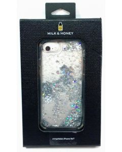 Milk & Honey Silver Snow Globe Waterfall Liquid Glitter Case for iPhone 8 / 7