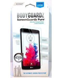 BodyGuardz Pure Tempered Glass Screen Protector for LG G Vista - Lot Of 10