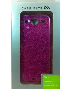 Genuine Case Mate Glam With Glitter Case for Samsung Galaxy S3 - Glam Pink