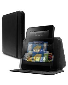 New Marware Revolve Genuine Leather Rotating Standing Case for Kindle Fire HD 7