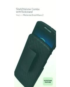 New Verizon Shell/Holster Combo with Kickstand For Motorola Droid Maxx 2 - Black
