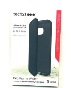 Tech21 Evo Frame Wallet Thin Protection Case for Samsung Galaxy S6 Edge - Black