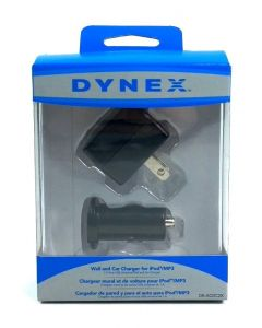 Dynex Compat Universial 1.0 AMP USB Wall & Car Charger - Black