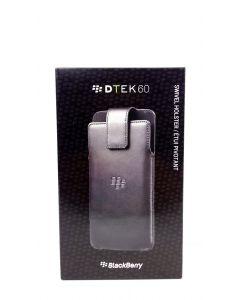 BlackBerry New OEM Leather Swivel Holster Case for BlackBerry DTEK60 - Black