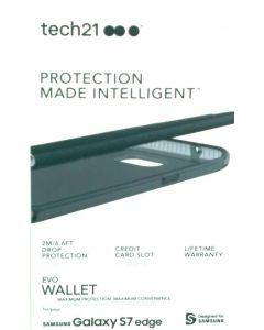 Tech21 Evo Wallet Shock Absorbing Case for Samsung Galaxy S6 Edge - Black