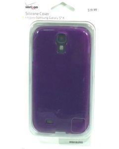 Verizon New Silicone Matte Slim Protection Case for Samsung Galaxy S4 - Purple