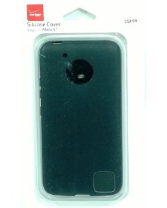 Verizon Silicone Cover - Shock Absorbent Case - For Motorola Moto E4 - Black