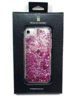 Milk & Honey Hearts Liquid Glitter Case for iPhone 8 / 7
