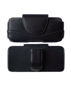 Verizon New Authentic Leather Side Pouch For Most Small Phones - Black