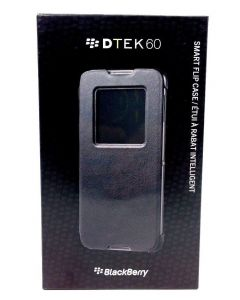 BlackBerry New OEM Genuine Smart Flip Leather Case for BlackBerry DTEK60 - Black