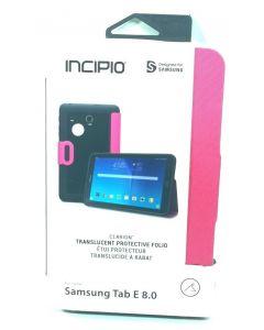 "Incipio Clarion Folio Translucent Protective Case For Samsung Tab E 8.0"" - Pink"