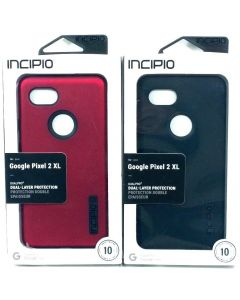 Incipio DualPro Dual Layer Protective Case For Google Pixel 2 XL - Black Red