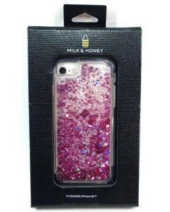 Milk & Honey Hearts Liquid Glitter Case for iPhone 8 / 7