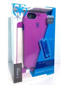 New Speck CandyShell   Faceplate Protection Case for iPhone 6/6s - Purple/Blue