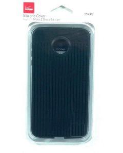 Verizon Silicone Matte Hard Protection Case For Motorola Moto Z Droid - Black