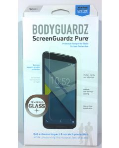 BodyGuardz Pure Tempered Glass Screen Protector For Google Nexus 6