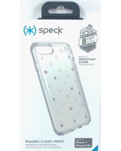 New Authentic Speck Presidio Clear & Print Slim Case For Apple iPhone 8 / 7