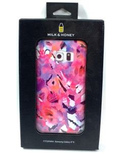 New Milk & Honey Hybrid Floral Abstract Design Case for Samsung Galaxy S6 - Pink