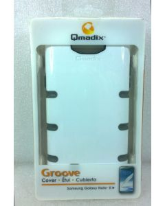 Offical Qmadix Groove Case for Samsung Galaxy Note II - White/Gray
