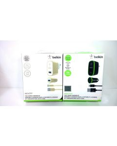 Belkin Premium Charger Kit W/2.4A 12W Micro USB Cable