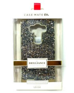 Case-Mate Brilliance Dual-Layer Genuine Crystal & Leather Case for LG G4