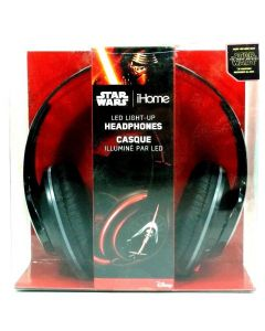 Star Wars Episopde 7 Force Awakens iHome LED Light Up Over Ear Headphones
