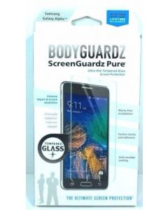 BodyGuardz Pure Tempered Glass Screen Protector For Samsung Galaxy Alpha