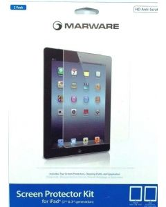 Marware Anti Scratch 2 Pack Screen Protector Kit For iPad 1st 2nd 3rd Generation