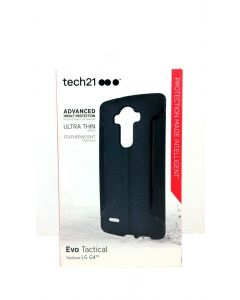 Tech21 Evo Tactical New FlexShock Hard Case Cover For LG G4 - Black