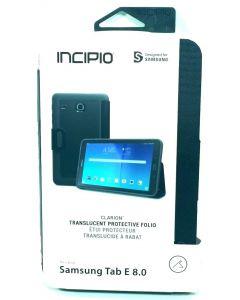 "Incipio Clarion Folio Translucent Protective Case For Samsung Tab E 8.0"" - Black"