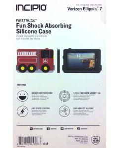 New Incipio Firetruck Shock Absorbing Silicone Case for Verizon Ellipsis 7