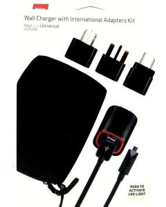 Verizon Wall Charger with International Micro USB Adapters Kit US UK EUR Charger