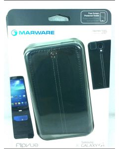Mareware FlipVue Case W/Screen Protector for Samsung Galaxy S4 - Black
